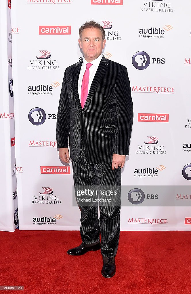 Hugh Bonneville attends The 'Downton Abbey' Series Season Six Premiere at Millenium Hotel on December 7, 2015 in New York City.