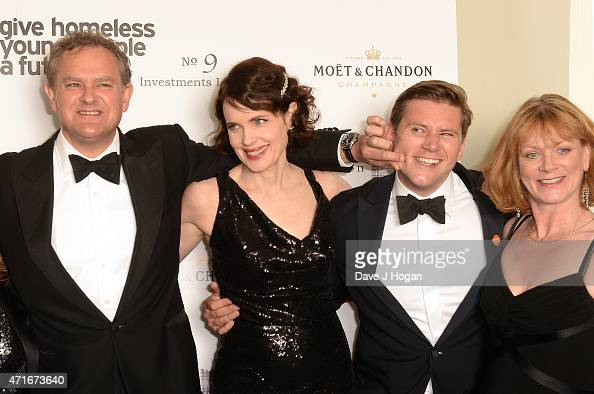 Hugh Bonneville Elizabeth McGovern Allen Leech and Samantha Bond attend the Downton Abbey Ball in aid of Centrepoint at The Savoy Hotel on April 30...