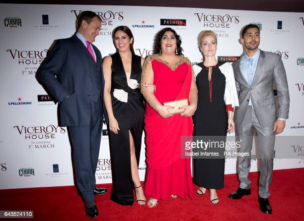 Hugh Bonneville Huma Qureshi Gurinder Chada Gillian Anderson and Manish Dayal attending the Viceroy's House UK Premiere at the Curzon Mayfair Cinema...