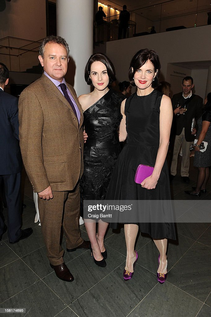 Hugh Bonneville, Michelle Dockery and Rob James-Collier attend an evening with the cast and producers of PBS Masterpiece series 'Downton Abbey' hosted by Ralph Lauren & Graydon Carter on December 10, 2012 in New York City.