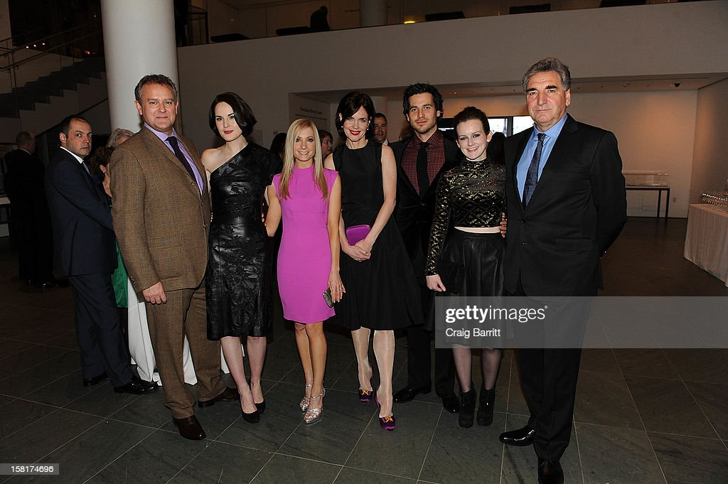Hugh Bonneville, Michelle Dockery, Joanne Froggatt, Elizabeth McGovern, Rob James-Collier, Sophie McShera and Jim Carter attend an evening with the cast and producers of PBS Masterpiece series 'Downton Abbey' hosted by Ralph Lauren & Graydon Carter on December 10, 2012 in New York City.
