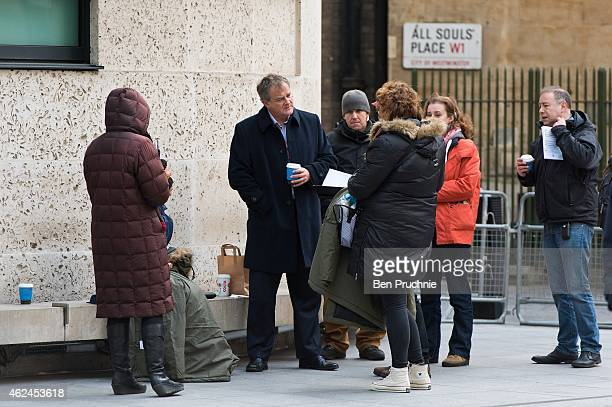 Hugh Bonneville sighted filming on January 29 2015 in London England