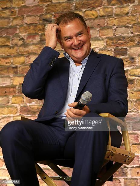 Hugh Bonneville speaks at the Apple store Covent Garden on November 4 2015 in London England