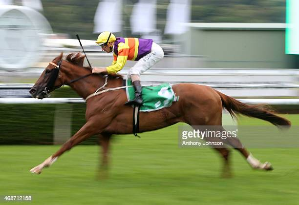 Hugh Bowman rides Candelara to win race 10 The Adrian Knox Stakes during Sydney Racing at Royal Randwick Racecourse on April 6 2015 in Sydney...