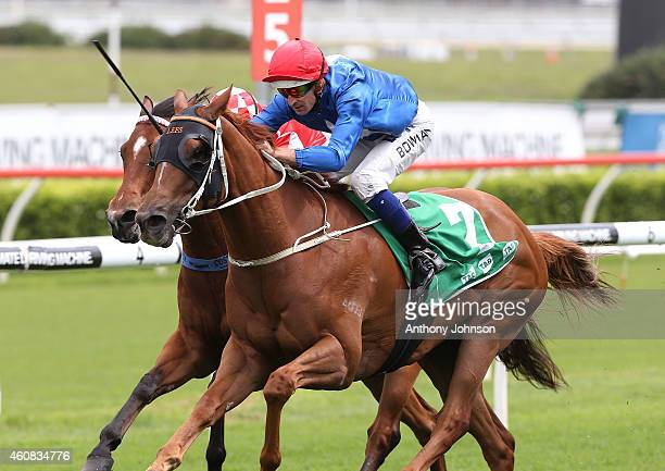 Hugh Bowman rides Unique during Sydney racing at Royal Randwick Racecourse on December 26 2014 in Sydney Australia