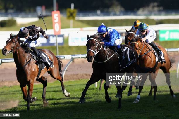 Hugh Bowman rides Winx to win the Warwick Stakes during Sydney Racing at Royal Randwick Racecourse on August 19 2017 in Sydney Australia
