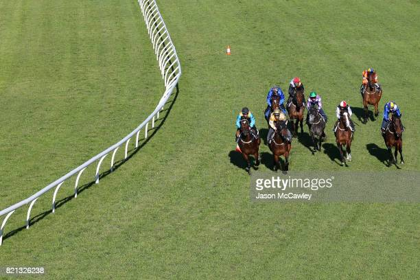 Hugh Bowman riding Winx competes in a barrier trial at Royal Randwick Racecourse on July 24 2017 in Sydney Australia