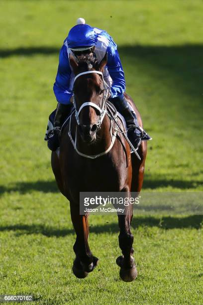 Hugh Bowman riding 'Winx' wins The Longines Queen Elizabeth Stakes during The Championships Day 2 at Royal Randwick Racecourse on April 8 2017 in...