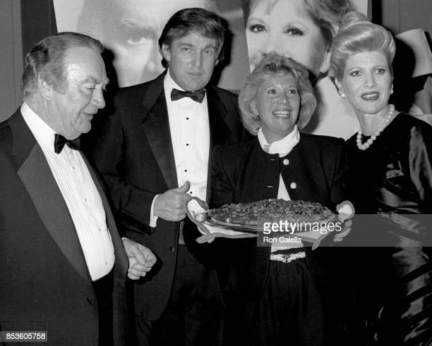 Hugh Carey Donald Trump Dinah Shore and Ivana Trump attend Gourmet Gala March of Dimes Benefit on October 31 1988 at the Waldorf Hotel in New York...