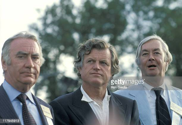 Hugh Carey Ted Kennedy and Daniel Patrick Moynihan