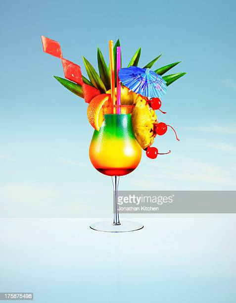 Hugh colourful cocktail