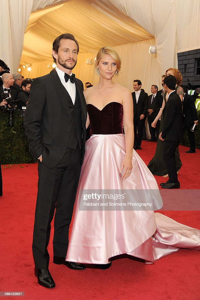 Hugh Dancey and Claire Danes attend the 'Charles James: Beyond Fashion' Costume Institute Gala at the Metropolitan Museum of Art on May 5, 2014 in New York City.