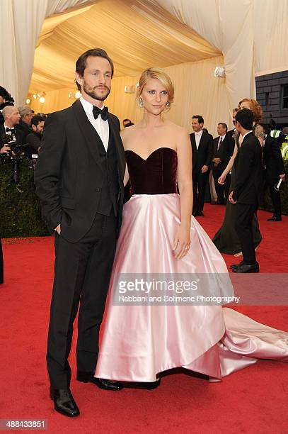 Hugh Dancey and Claire Danes attend the 'Charles James Beyond Fashion' Costume Institute Gala at the Metropolitan Museum of Art on May 5 2014 in New...