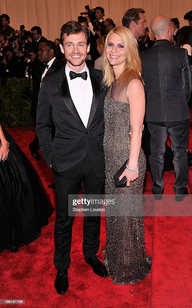 Hugh Dancy and Claire Danes attend the Costume Institute Gala for the 'PUNK: Chaos to Couture' exhibition at the Metropolitan Museum of Art on May 6, 2013 in New York City.