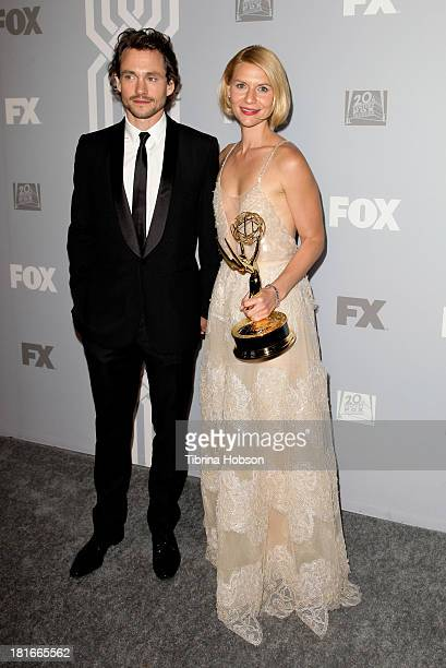 Hugh Dancy and Claire Danes attend the Twentieth Century FOX Television and FX Emmy Party at Soleto on September 22 2013 in Los Angeles California