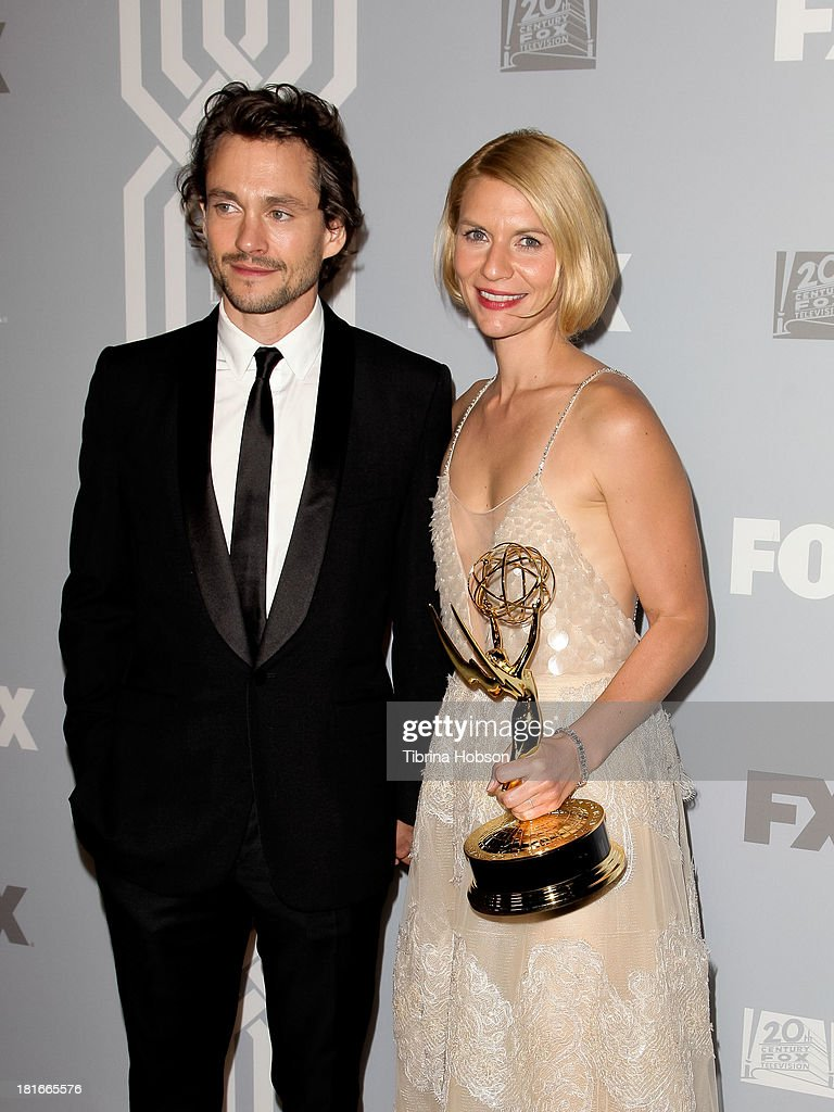 <a gi-track='captionPersonalityLinkClicked' href=/galleries/search?phrase=Hugh+Dancy&family=editorial&specificpeople=214056 ng-click='$event.stopPropagation()'>Hugh Dancy</a> and <a gi-track='captionPersonalityLinkClicked' href=/galleries/search?phrase=Claire+Danes&family=editorial&specificpeople=202666 ng-click='$event.stopPropagation()'>Claire Danes</a> attend the Twentieth Century FOX Television and FX Emmy Party at Soleto on September 22, 2013 in Los Angeles, California.