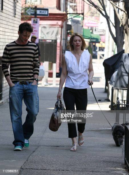 Hugh Dancy and Claire Danes during Claire Danes and Hugh Dancy Sighting at Bar Pitti in the West Village of New York City April 23 2007 at Bar Pitti...