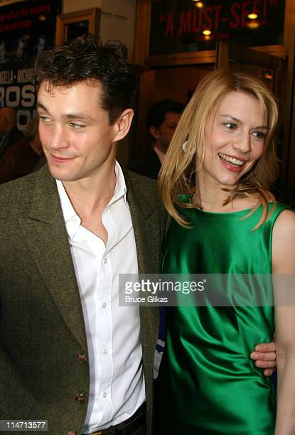 Hugh Dancy and girlfriend Claire Danes during 'Frost/Nixon' Opening Night Arrivals at Bernard B Jacobs Theatre in New York City New York United States