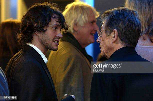 Hugh Dancy and John Hurt during The Times BFI 49th London Film Festival 'Shooting Dogs' at Odeon West End in London Great Britain