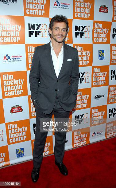 Hugh Dancy attends the 49th annual New York Film Festival presentation of 'Martha Marcy May Marlene' at Alice Tully Hall Lincoln Center on October 11...