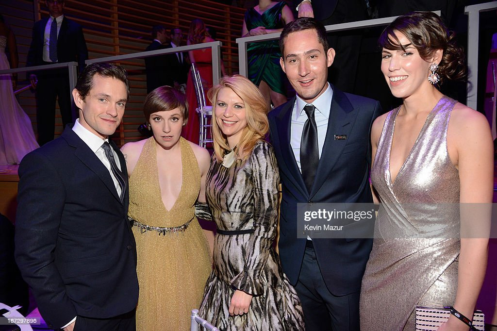 Hugh Dancy, Lena Dunham, Claire Danes, Kevin Systrom and Guest attend TIME 100 Gala, TIME'S 100 Most Influential People In The World at Jazz at Lincoln Center on April 23, 2013 in New York City.