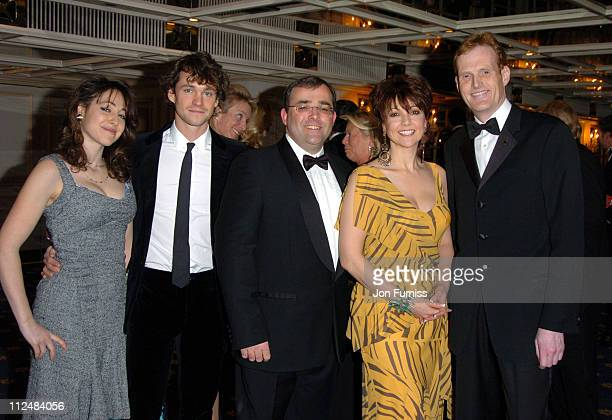 Hugh Dancy Neil Snow Emma Samms and Alex Sparks during Starlight Ball 2005 Inside at Park Lane in London Great Britain