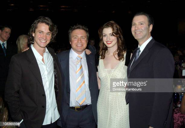 Hugh Dancy Tommy O'Haver director of 'Ella Enchanted' Anne Hathaway and Rick Sands Chief Operating Officer at Miramax