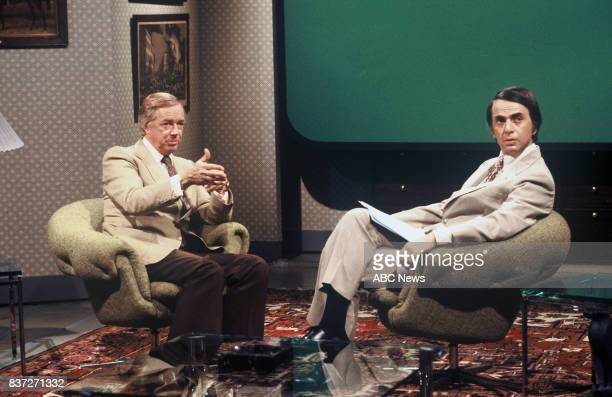 Hugh Downs and Carl Sagan for ABC's '20/20' 6/29/78 on the ABC Television Network HUGH