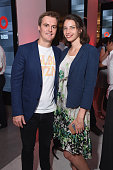 Hugh Evans CEO of Global Citizen and his wife Tanyella Evans attend the 2016 Global Citizen Festival Launch Celebration at Cadillac House on July 26...
