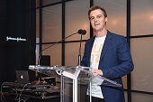 Hugh Evans CEO of Global Citizen speaks at the 2016 Global Citizen Festival Launch Celebration at Cadillac House on July 26 2016 in New York City