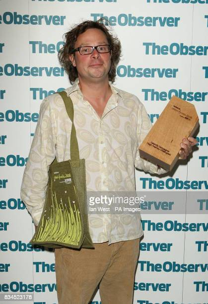 Hugh FearnleyWhittingstall wins the Celebrity Campaigner of the Year award at The Observer Ethical Awards 2008 at the Hempel Hotel in London