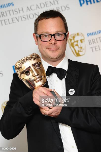 Hugh FearnleyWhittingstall with the Features award at the Philips British Academy Television Awards at the Grosvenor House 90 Park Lane London