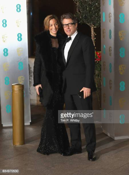 Hugh Grant and Anna Elisabet attend the official after party for the 70th EE British Academy Film Awards at The Grosvenor House Hotel on February 12...