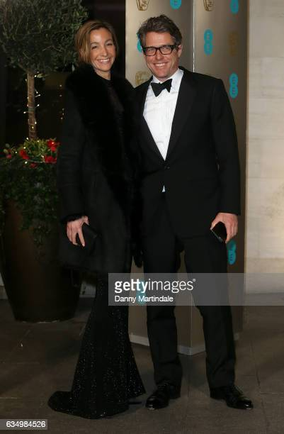 Hugh Grant and Anna Elisabet attends the official after party for the 70th EE British Academy Film Awards at The Grosvenor House Hotel on February 12...