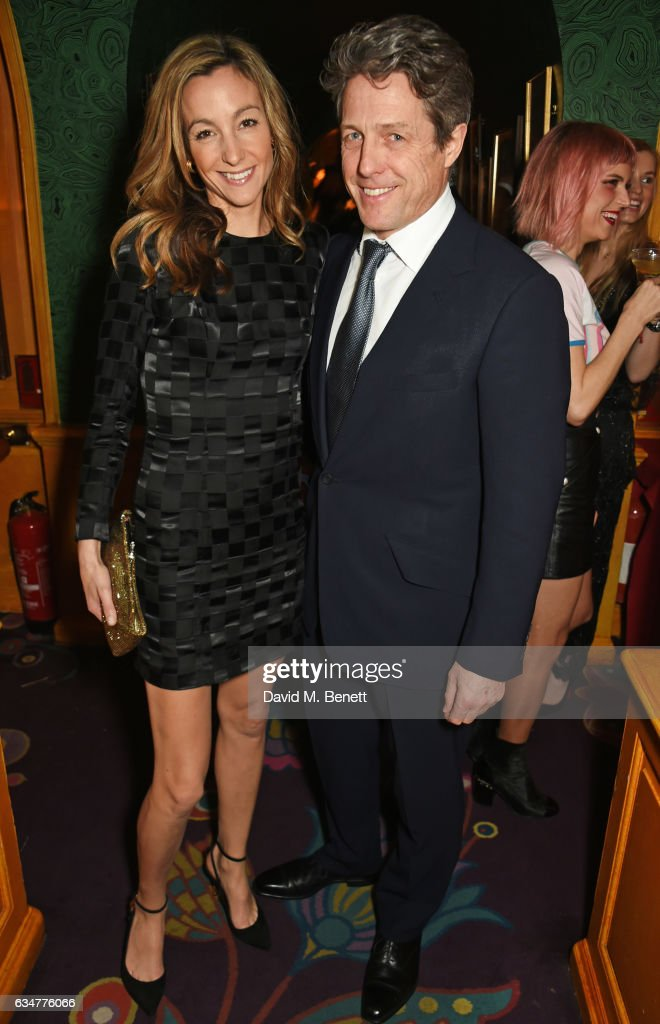 hugh-grant-and-anna-elisabet-eberstein-attend-a-pre-bafta-party-by-picture-id634776066
