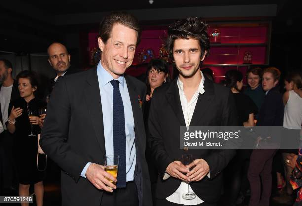 Hugh Grant and Ben Whishaw attend the World Premiere after party for 'Paddington 2' at Aqua Shard on November 5 2017 in London England