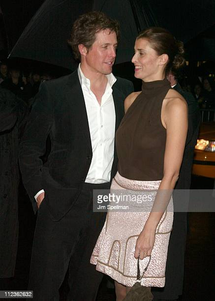 Hugh Grant and girlfriend Rosario Saxe Coburg during 'Love Actually' New York Premiere at Ziegfeld Theatre in New York City New York United States