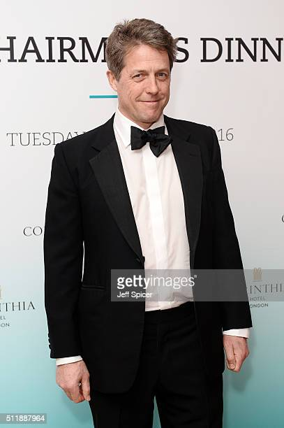 Hugh Grant arrives at the BFI Chairman's Dinner where he was awarded with his BFI Fellowship at The Corinthia Hotel on February 23 2016 in London...