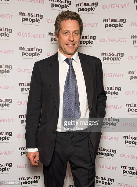 Hugh Grant arrives for the 'Home for Christmas' fundraising dinner and auction in aid of Missing People at the Corinthia Hotel on November 05 2015 in...