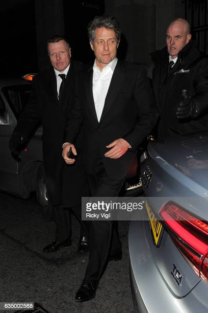 Hugh Grant arriving at EE BAFTA British Academy Film Awards Dinner and After Party held at Grosvenor House on February 12 2017 in London England