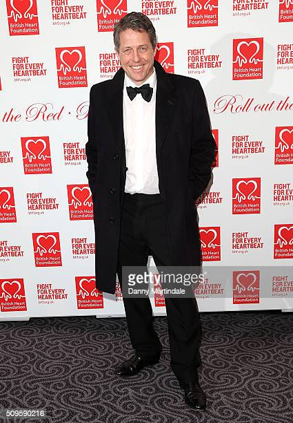 Hugh Grant attends the British Heart Foundation Roll Out The Red Ball at The Savoy Hotel on February 11 2016 in London England