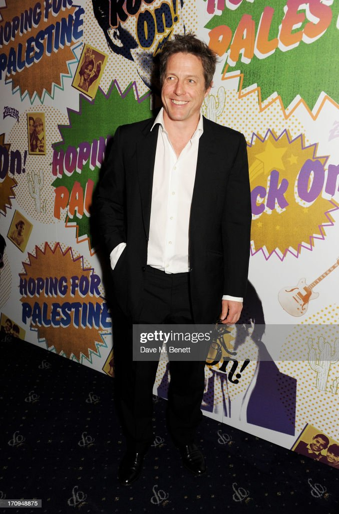 Hugh Grant attends The Hoping Foundation's 'Rock On', a benefit evening for Palestinian refugee children, at Cafe de Paris on June 20, 2013 in London, England.