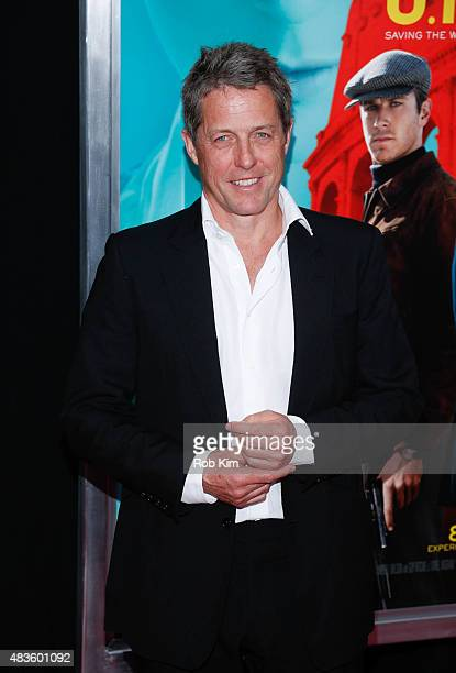 Hugh Grant attends the New York Premiere for 'The Man From UNCLE' at Ziegfeld Theater on August 10 2015 in New York City