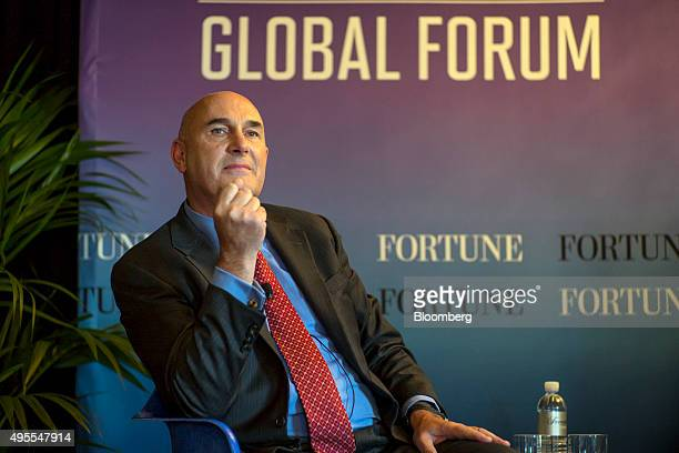 Hugh Grant chairman and chief executive officer of Monsanto Co listens to a discussion during the 2015 Fortune Global Forum in San Francisco...