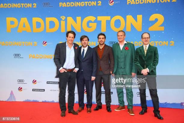 Hugh Grant Director Paul King Elyas M' Barek Hugh Bonneville and Ambassador of Britain Sir Sebastian Wood attend the 'Paddington 2' premiere at Zoo...