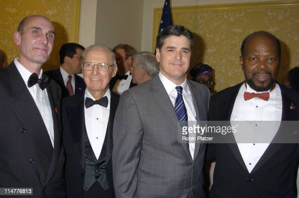 Hugh Grant Dr Norman Borlaug Sean Hannity and Roy Innis