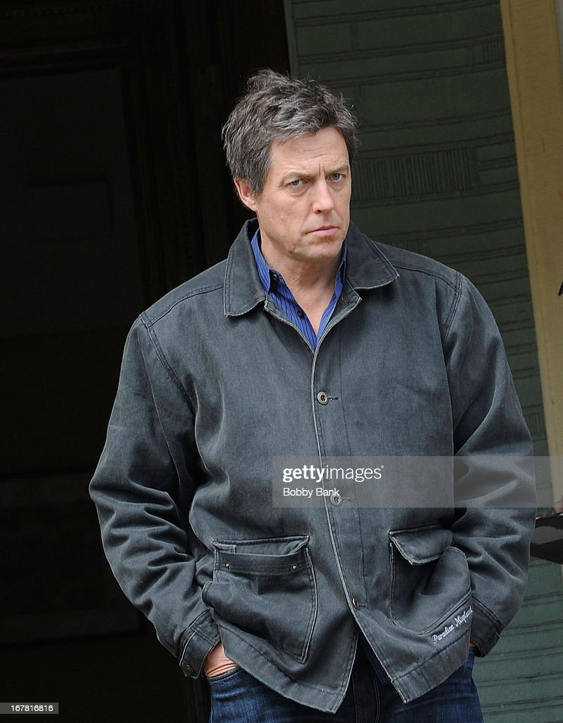 Hugh Grant filming on location for 'Untitled Marc Lawrence Project' on April 30, 2013 in the Brooklyn borough of New York City.