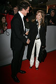 Hugh Grant Isabelle Huppert during 2006 Cesar Awards Ceremony Arrivals at Theatre du Chatelet in Paris France