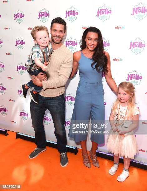 Hugh Hanley Michelle Heaton Aaron Hanley and Faith Michelle Hanley attend the UK premiere of the brand new Nick Jr show 'Nella the Princess Knight'...