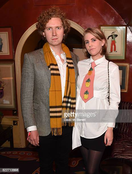 Hugh Harris and India Rose James at Jessie Ware's performance at Annabel's on April 20 2016 in London England
